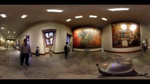 360° stitched image of a museum